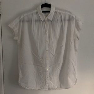 Madewell White Cotton Central Shirt XS